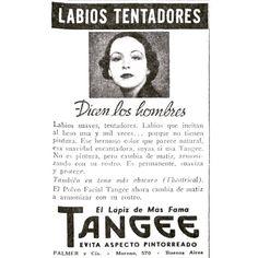 Labios tentadores  #1935 #argentina #buenosaires #vintage #ads #freelance #diseñoweb #tango