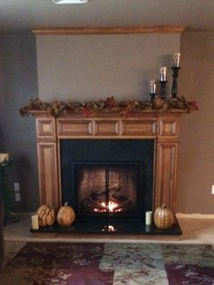 Mendota Gas Fireplace and Custom Wood Mantle and Surround by Rettinger Fireplace Systems