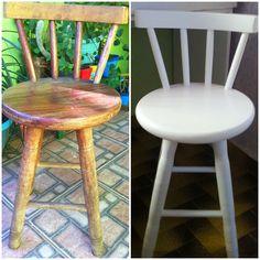 O antes e depois de uma cadeira retrô