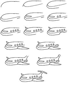 airplane printable drawing lesson free hundreds of drawing tutorials
