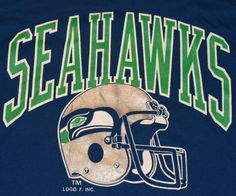 Vintage 1980s Seattle Seahawks. We just painted my little brothers room these colors! Go Hawks!!!