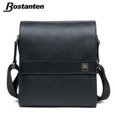 Bostanten 남자 수직 정품 가죽 가방 남성 메신저 비즈니스 남성 서류 가방 디자이너 핸드백 고품질의 어깨 가방