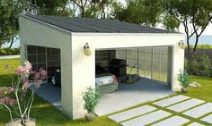 Check our huge array of custom carports for customers across the USA. Explore our carport ideas gallery, carport design photos and so much more. Carport Garage, Pergola Carport, Deck With Pergola, Patio Roof, Pergola Patio, Pergola Kits, Carport Canopy, Attached Pergola, Cheap Pergola