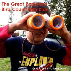 Participating in the Great Backyard Bird Count with kids ~ Go Explore Nature