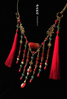 "ziseviolet: ""  Handmade Chinese Necklaces and Hair Ornaments by 律吕迢暘, Part 2. (Pt. 1) """
