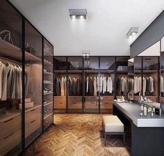 Best Modern Closet Design, For you fashion lovers and the latest clothing collection, the closet is a favorite furniture that is certainly needed at home. Of course, the cabinet is not only for clo… Walk In Closet Design, Bedroom Closet Design, Closet Designs, Bedroom Designs, Luxury Wardrobe, Luxury Closet, Garderobe Design, Home Luxury, Luxury Living