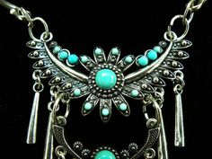 Hey, I found this really awesome Etsy listing at http://www.etsy.com/listing/129078515/aztec-eagle-turquoise-choker-necklace