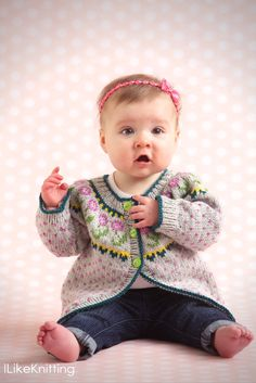 fair isle knitting for baby