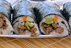 Cauliflower Rice Sushi Rolls a paleo sushi recipe fresh and crispy for summer.