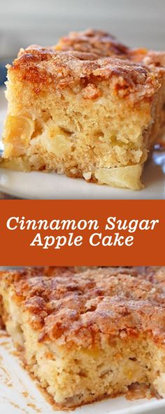 cinnamon sugar apple cake - House Recipes & Home Decor - Cheesecake Recipes Moist Apple Cake, Apple Cinnamon Cake, Cinnamon Sugar Apples, Easy Apple Cake, Apple Coffee Cakes, Fresh Apple Cake, Apple Cake Recipes, Apple Desserts, Easy Cake Recipes