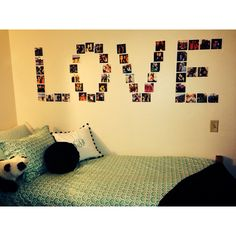 Make a big statement on your wall by writing out a word with pictures!