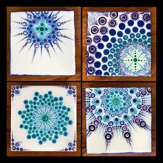 A personal favorite from my Etsy shop https://www.etsy.com/listing/593353765/ceramic-tile-art-blueaquapurplesilver