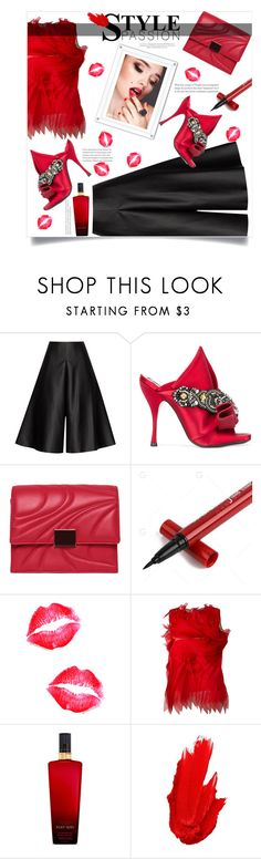 """""""Untitled #396"""" by riuk ❤ liked on Polyvore featuring Solace, N°21, Emilio Pucci, Gianluca Capannolo, Victoria's Secret and Maybelline"""
