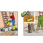 Yanlış ve Doğruları ile İnşaatta İş Güvenliği | İnşaat Gündemi Safety Slogans, Safety Posters, Safety Cartoon, Industrial Safety, Workplace Safety, Safety First, Health And Safety, Fun Facts, First Love