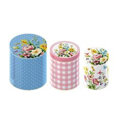 Amazon.com - Creative Tops Katie Alice English Garden Shabby Chic Nested Kitchen Storage Tins, Set of 3 - Commercial Food Jars