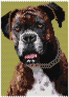 Boxer Dog Peyote Seed Bead Pattern PDF or KIT
