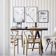 Welcome to Sandberg Wallpaper. We are a Swedish design company specialising in designer wallpaper and home accessories. Striped Wallpaper Design, Grey Wallpaper, Wallpaper Decor, Blue Wallpapers, Designer Wallpaper, Sandberg Wallpaper, Wallpaper Ideas, Dining Room Wallpaper, Kitchen Wallpaper