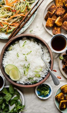 You don't need to go to a restaurant to enjoy coconut rice. Make it at home in less than 30 minutes. #glutenfree #dairyfree #coconut #rice Gluten Free Sides Dishes, Healthy Side Dishes, Vegetarian Recipes, Healthy Recipes, Vitamix Recipes, Protein Recipes, Healthy Dinners, Vegetable Recipes, Easy Recipes