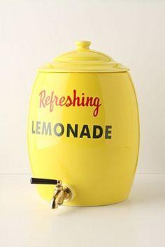 lemonade dispenser.