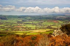 View from Kit Hill towards Stoke Climsland, Callington, South East Cornwall