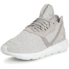 Adidas Originals Tubular Runner Trainers ($125) ❤ liked on Polyvore featuring shoes, adidas originals shoes, stretch shoes, stretching synthetic shoes, adidas originals and genuine leather shoes
