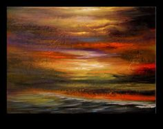 art painting abstract original painting wall art seascape landscape 18 x 24 Mattsart Tole Painting, Light Painting, Painting Abstract, Modern Art Paintings, Beautiful Paintings, Original Paintings, Mediums Of Art, Colorful Abstract Art, Beginner Painting