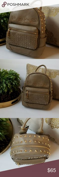 Bebe mini backpack New with tags perfect for a gift or your self. Width 8 inches  Depth 5 inches  Height 9 1/2 bebe Bags Mini Bags