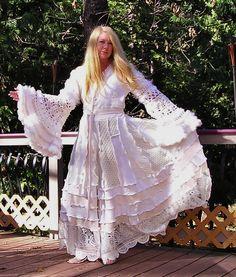 Recycled Sweater Coat Wedding Coat Bridal by VintageDesignByVines, $458.00