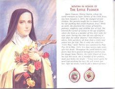 The Power of Prayer...St.Thérèse of the Child Jesus