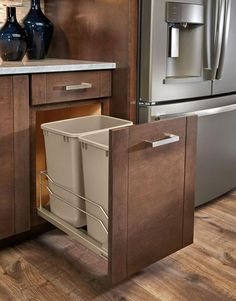 Under kitchen sink organizing of trash cans that pull out ... on kitchen recycling ideas, packaging ideas, kitchen tool ideas, kitchen cake ideas, kitchen trash can ideas,