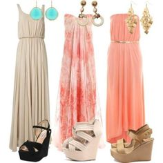 Nude maxi dress. Can be tank or strapless on the hunt to find the website for these!