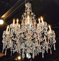 antic most beautiful cristall chandelers | This Stunning French Crystal Chandelier is in Excellent Condition,c ...