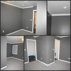 Grey Paint Color For Office Walls White Trims Carpet Example Of Too Dark I Want To Avoid This Look