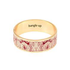BRACELET CANCAN BLANC SABLE / ROUGE GRENAT BANGLE UP