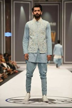 """Deepak & Fahad Introducing Latest Collection """"Rindana"""" At Fashion Pakistan Week Winter Festive 2016 A name of Style and glamour in Waistcoat Men Wedding, Sherwani For Men Wedding, Wedding Dresses Men Indian, Groom Wedding Dress, Wedding Outfits For Men, Wedding Wear, Wedding 2015, Groom Dress, Party Wedding"""