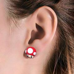 [VR-Zone] - Mario Mushroom Earrings http://buff.ly/1sagROt_n.jpg (450×450)