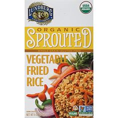 Lundberg Organic Sprouted Fried Rice Vegetable 6 Ounce -- You can find out more details at the link of the image.