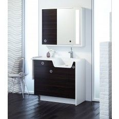 Rylan Falls® 42-Inch Right Facing Vanity with Solid Surface Top and Integrated Lavatory