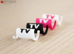 Cable Label TV 3d printed