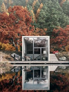 Concrete Lake House House design is continously bringing new ideeas. The post Concrete Lake House appeared first on Baustil. Architecture Design, Amazing Architecture, Building Architecture, Minimal Architecture, Architecture Diagrams, Architecture Portfolio, Concept Architecture, Design Exterior, Interior And Exterior