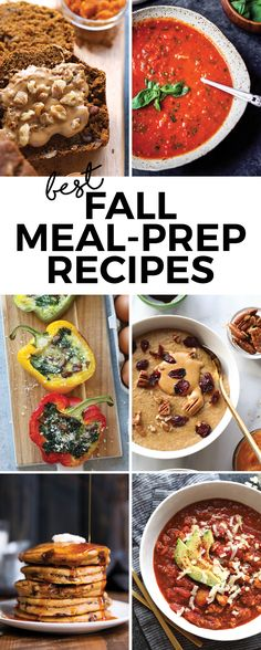 We've rounded up the best fall meal-prep recipes which includes wholesome breakfasts, quick lunches, and 30-minute dinner. In this list, you'll find vegetarian, meat-filled, and gluten-free recipes.