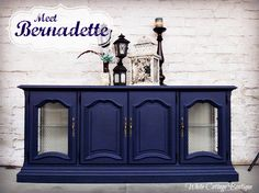 Meet Bernadette – Navy Painted Hutch