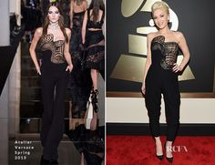 Gwen Stefani was in attendance at the 2015 Grammy Awards on Sunday (February 8) at the Staples Center in Los Angeles, California. Owning the red carpet, th