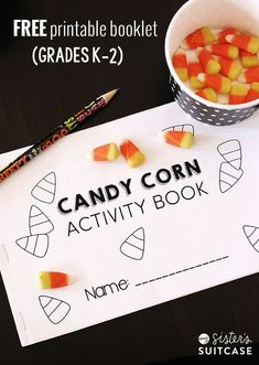 Free Printable Candy Corn Booklet for Grades K-2