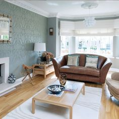 On Style Today 2020 10 15 Cool Duck Egg Blue Brown Living Room Ideas Here