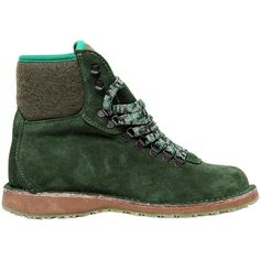 CARTA VETRATA Vegetable-Tanned Suede & Felt Boots (€190) found on Polyvore - Ecoshoes 100% Made in Italy 100% Organic
