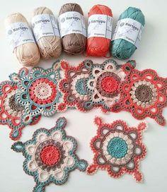 Crochet Square Lace Motif (Video Tutorial) – Page 3 Motif Mandala Crochet, Granny Square Crochet Pattern, Crochet Blocks, Crochet Squares, Crochet Blanket Patterns, Crochet Doilies, Crochet Flowers, Flower Granny Square, Mandala Rug