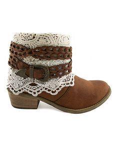 Another great find on #zulily! Tan Cowboy Cash Boot by TigerBear Republik #zulilyfinds