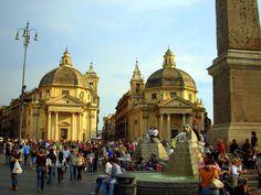 Piazza del Popolo, Roma, Italia - ABR 2007.