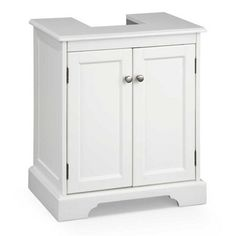 "Weatherby Bathroom Pedestal Sink Storage Cabinet  Exclusive! Item #511659 $149.99 Dimensions:	Overall: 21""W x 14""D x 24""H Cutout: 8""W x 8-1/2""D Base: 3-1/2""H Inside: 17""W x 13""D (including cut out)	 Weight:	27 lbs."